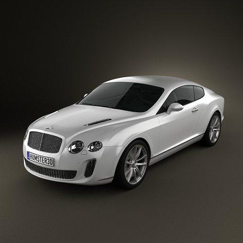 bentley continental supersport coupe 3d model max obj mtl 3ds fbx c4d lwo lw lws 1
