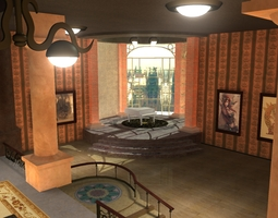 Steampunk Office 3D Model