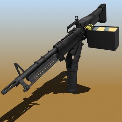 m60 machine gun 48589 3d model cgtrader
