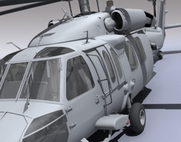 UH 60 Blackhawk Navy Helicopter 3D Model