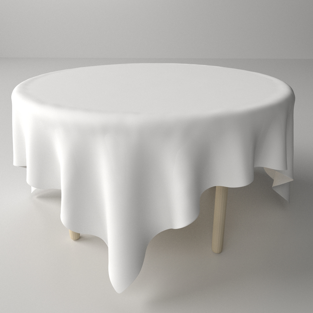 3d Model Table And Cloth Cgtrader