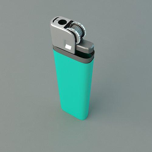 cigarette lighter 3d model max obj mtl 3ds fbx 1