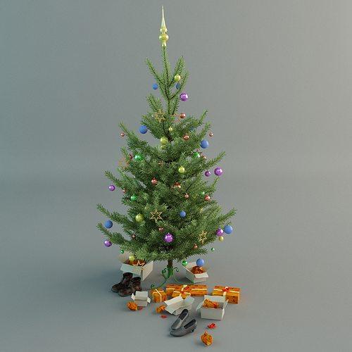 christmas tree 3d model max obj mtl 1