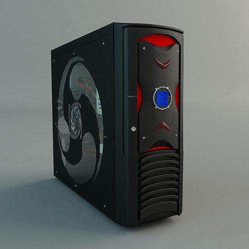 desktop pc 3d model max obj mtl fbx 1