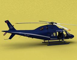 aw-119 air engiadina animated 3d model