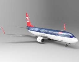 3D Aircraft 737 Poser Vue