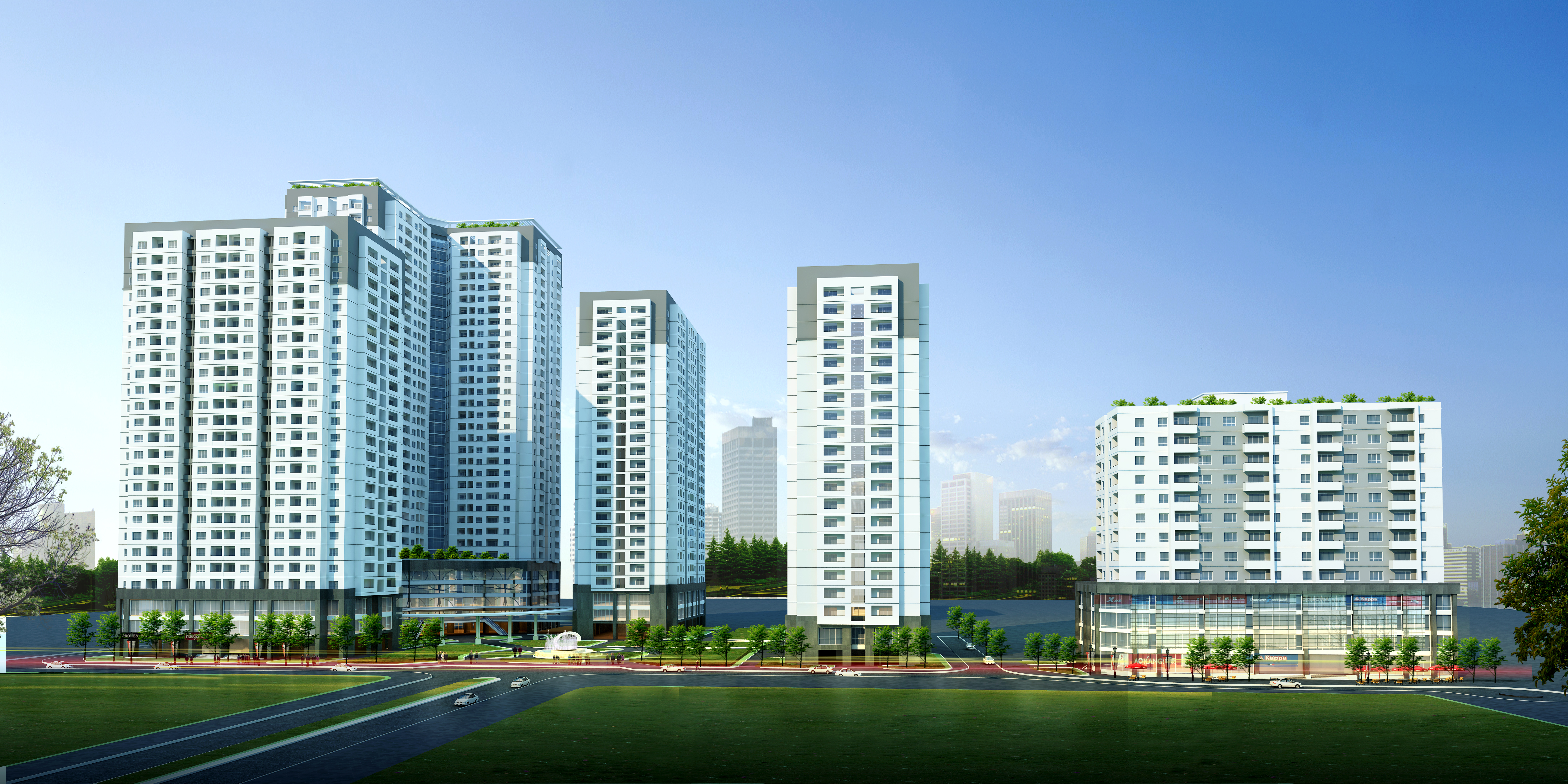 Detailed High Rise Building Complex 3d Model 3d Model Max Dxf