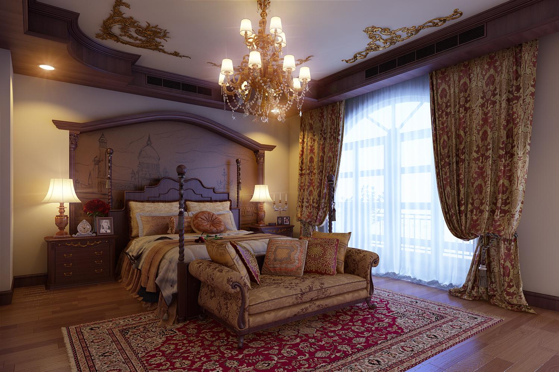 Luxurious Bedroom 3d Model Max 1