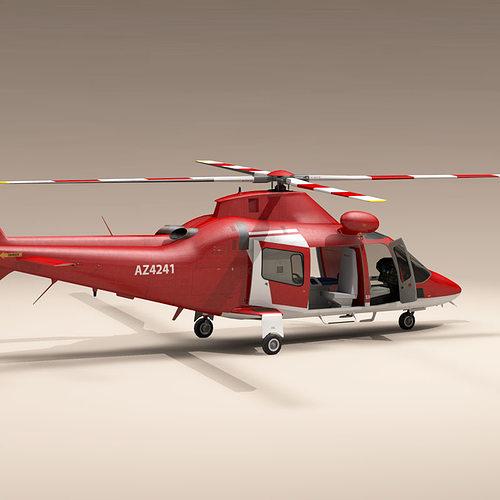 aw109 air ambulance 3d model obj mtl 3ds fbx c4d dxf dae 1