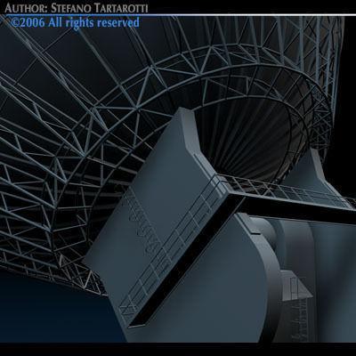 Antenna satellite 3d model obj 3ds c4d dxf - Antena satelite interior ...