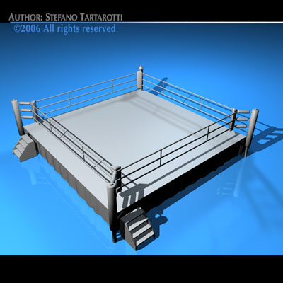 3d boxing ring cgtrader boxing ring 3d model obj 3ds c4d dxf 1 ccuart Images