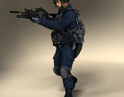 SWAT Police Officer 3D Model