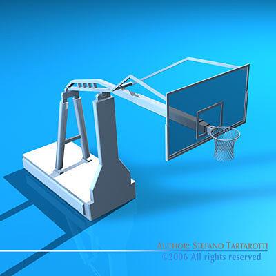 basketball hoop 3d model obj mtl 3ds c4d dxf 1