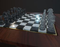 3D model Chess and checker board game