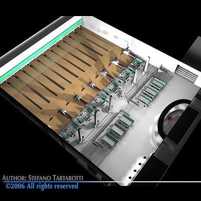 bowling building 3d model obj mtl 3ds c4d dxf 1