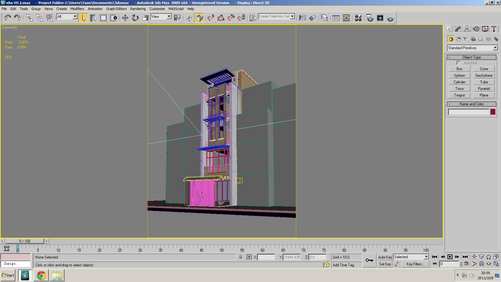 Exterior: Small Office Building Scene 3D Model MAX OBJ 3DS