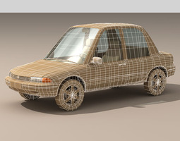 cartoon car 1 3d