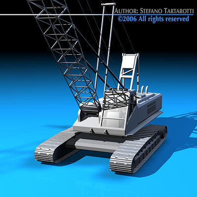 crane 3d model obj mtl 3ds c4d dxf 1