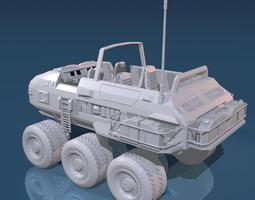 3D Desert rover with wheels