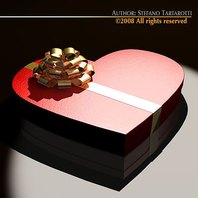 3d Chocolate Valentine Box Cgtrader