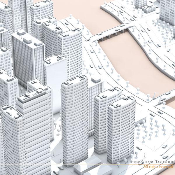 City town 3d model free