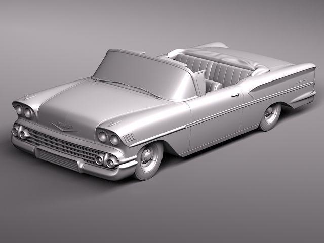 chevrolet bel air 1958 convertible 3d model max obj 3ds fbx lwo lw lws 12