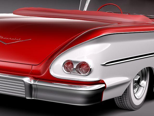 chevrolet bel air 1958 convertible 3d model max obj 3ds fbx lwo lw lws 4