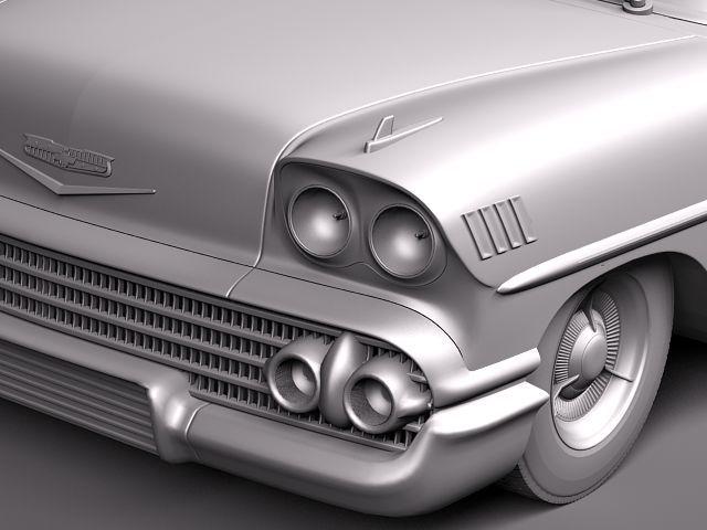 chevrolet bel air 1958 convertible 3d model max obj 3ds fbx lwo lw lws 11