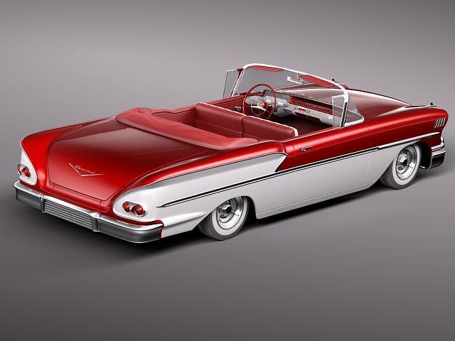 chevrolet bel air 1958 convertible 3d model max obj 3ds fbx lwo lw lws 5