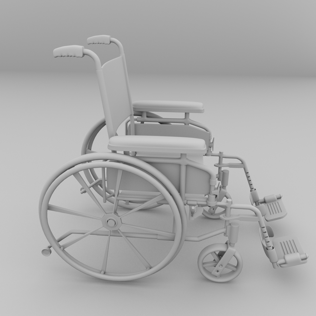 Wheelchair 3D Model 3DS FBX BLEND DAE