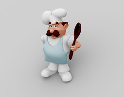 3d model chef character