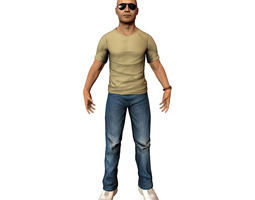 3d asset casual male VR / AR ready