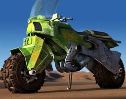 Dakar rally bike 3D model