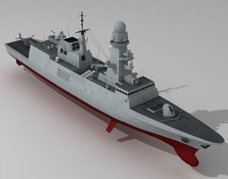 3D model FREMM multipurpose frigate