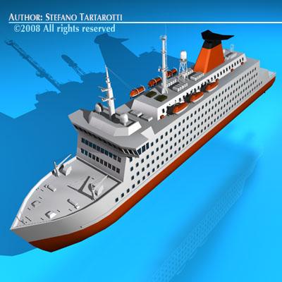 Ferryboat2 3d Model Obj 3ds C4d Dxf Cgtrader Com
