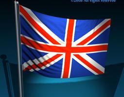 Flag United Kingdom 3D