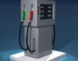 gas pump 3d model