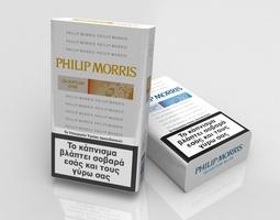Philip Morris cigarette pack 3D