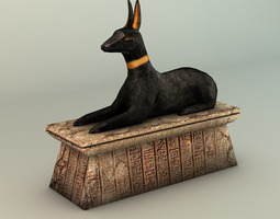 3D printable model Egyptian Anubis Statue