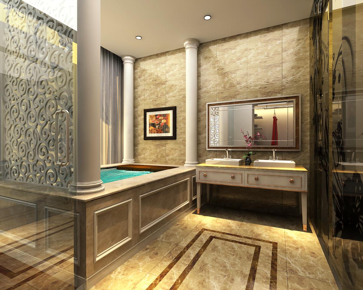 Bathroom 3d Model 3d models photoreal bathroom | cgtrader