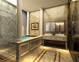 3D Models Photoreal Bathroom