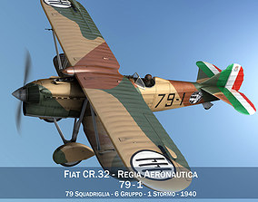 3D model Fiat CR 32 - Italy Airforce - 79 Squadriglia