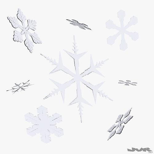 snowflakes 3d model max obj mtl 3ds fbx pdf 1