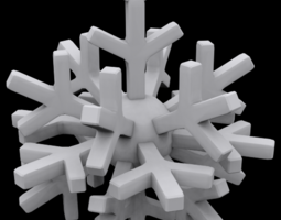 3D printable model Snowflake globe