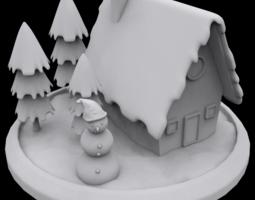 Winter house 3D printable model