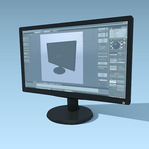 philips computer monitor 236v wide screen 3d model obj mtl fbx lwo lw lws blend 1
