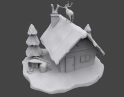 3D printable model Santa is stuck