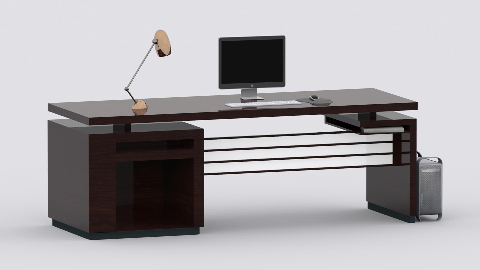 3d model computer desk vr ar low poly max fbx