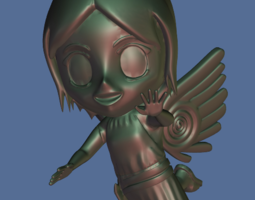 3d printable model flying chibi-angel