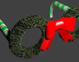 Christmas Wreath Glasses 3D print model